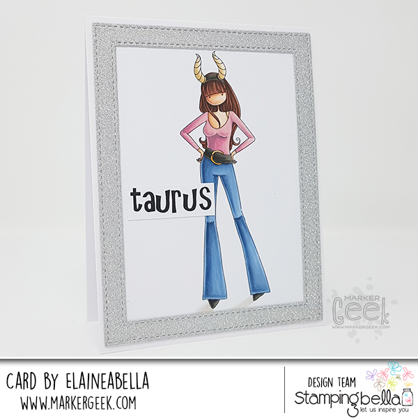 Stamping Bella Wonderful Wednesday: Uptown Zodiac Girl Taurus Card & Copic Colouring Video