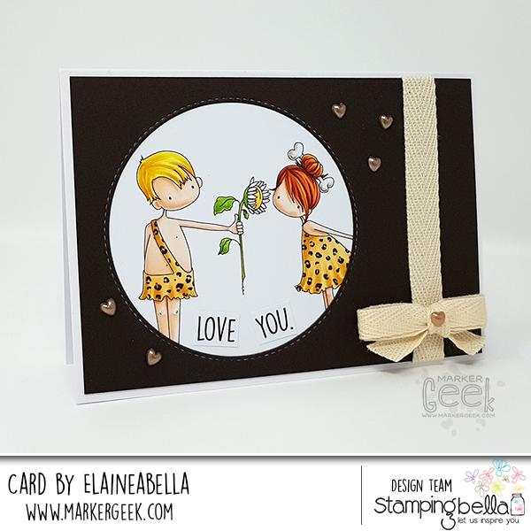 Stamping Bella: Cave Couple Card & Copic Colouring Video