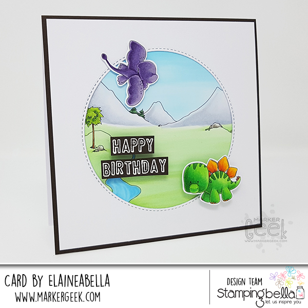 Stamping Bella: Wonderful Wednesday: Dinos & Cave Kids Cards & Colouring Videos