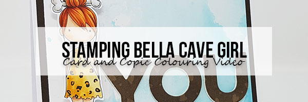 Stamping Bella Wonderful Wednesday: Cave Girl Card & Copic Colouring Video