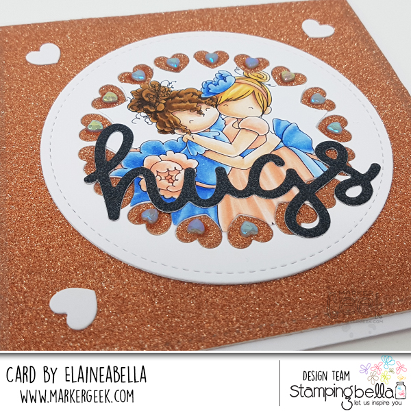 Stamping Bella Tiny Townie Huggy Friends Card & Copic Colouring Video