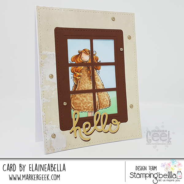 Stamping Bella Uptown Zodiac Girl Leo Card & Copic Colouring Video