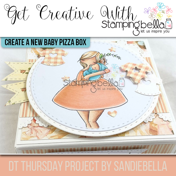 Stamping Bella DT Thursday: Create a New Baby Pizza Box with Sandiebella (step by step project)