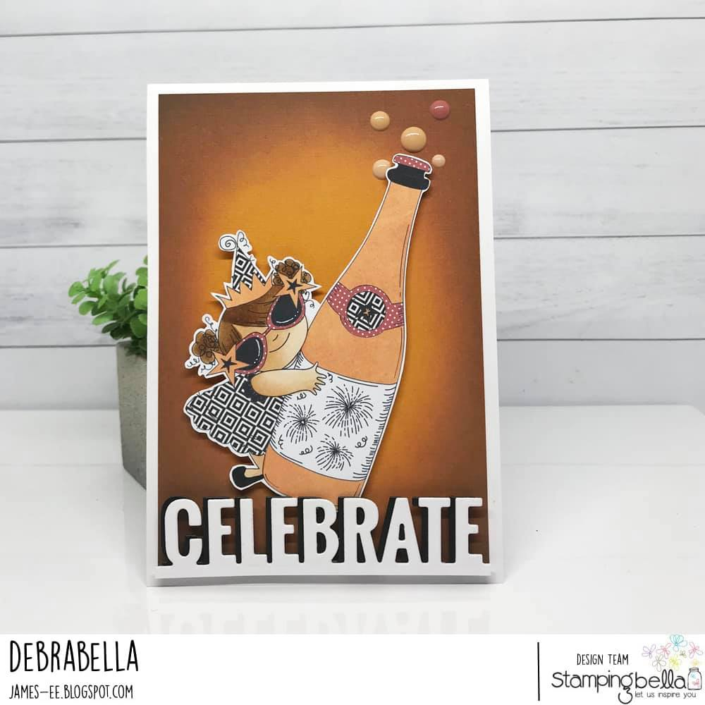 www.stampingbella.com: rubber stamp used : CELEBRATING SQUIDGY.. card by DEBRA JAMES