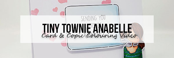 Stamping Bella Tiny Townie Anabelle Sends Love with Copic Colouring Video