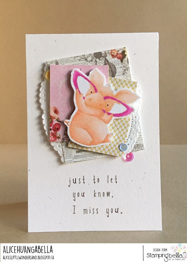www.stampingbella.com: rubber stamp used: NICE TO MEET YOU PETUNIA.  Card by Alice Huang