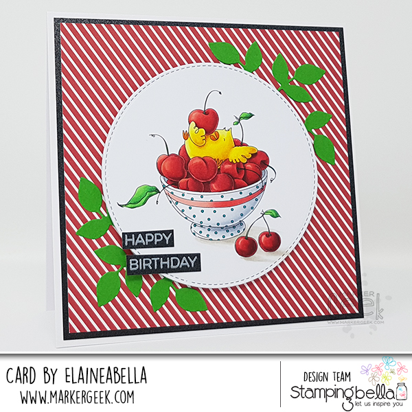 Stamping Bella: Marker Geek Monday Cherry Chick Card & Copic Colouring Video