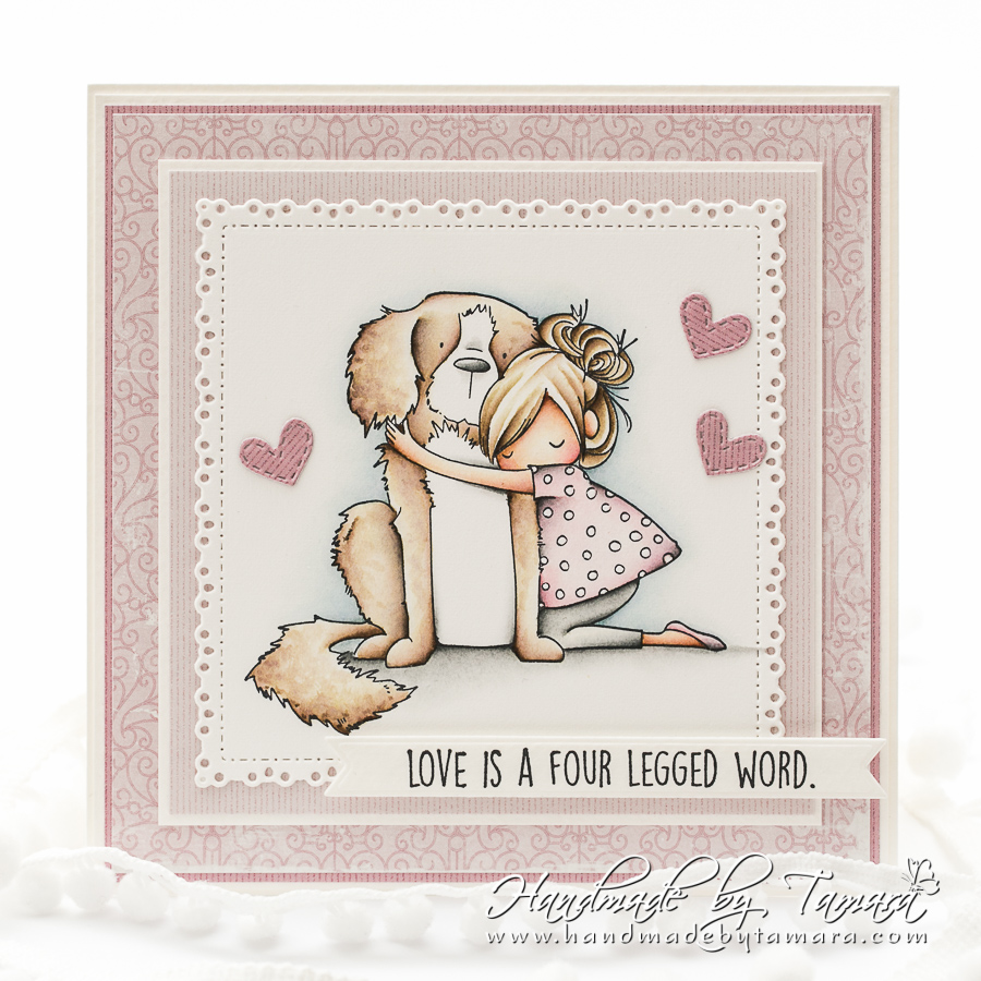 www.stampingbella.com: rubber stamp used : DAWN loves her DOG .  Card by Tamara Potozcnik