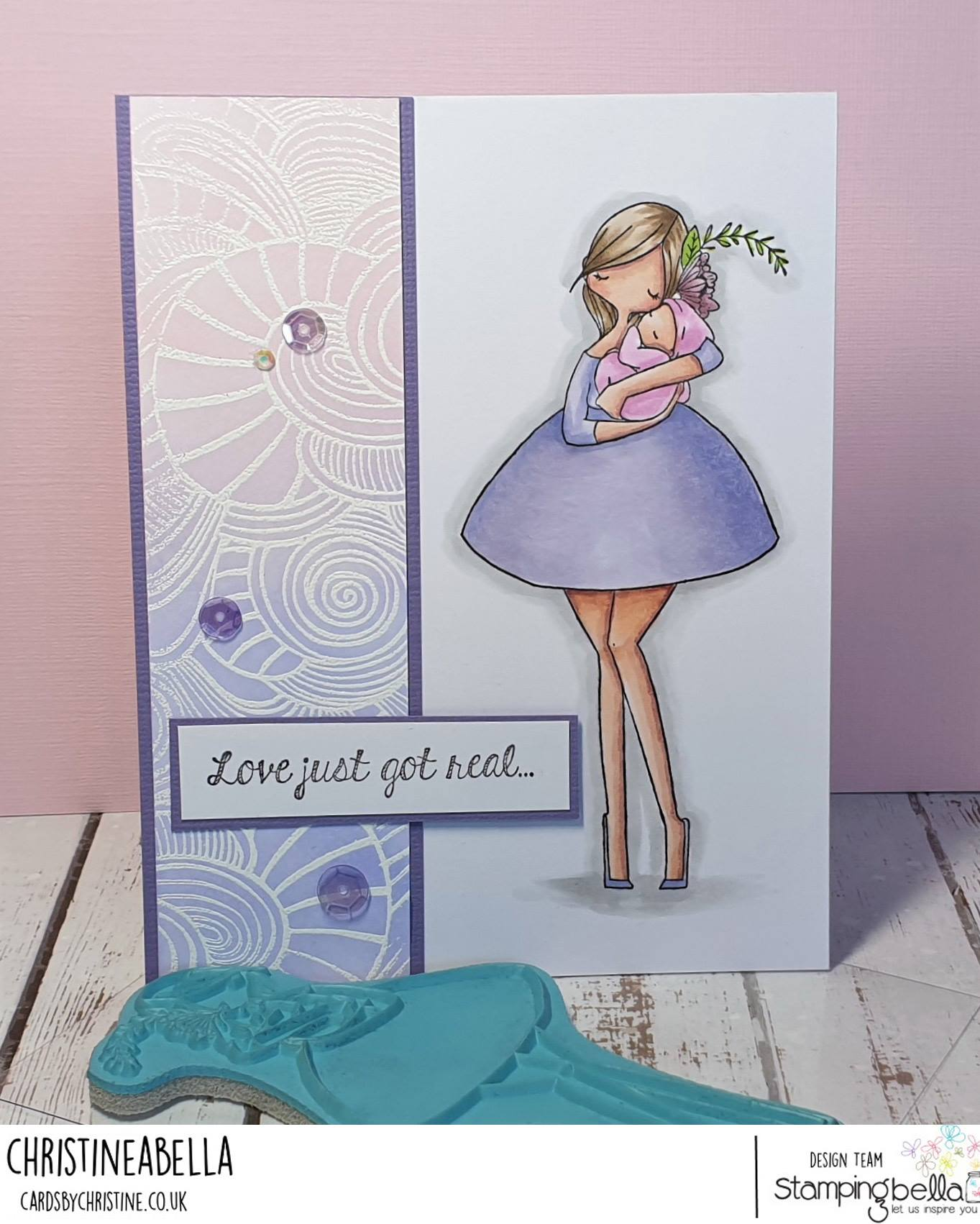 WWW.STAMPINGBELLA.COM: RUBBER STAMP USED: CURVY GIRL WITH A NEWBORN.  CARD BY CHRISTINE LEVISON