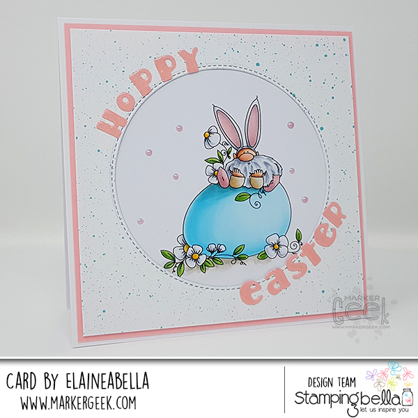 Stamping Bella Marker Geek Monday Gnome on an Egg Card & Copic Colouring Video