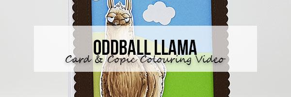 Marker Geek Monday: Stamping Bella Oddball Llama Card & Copic Colouring Video