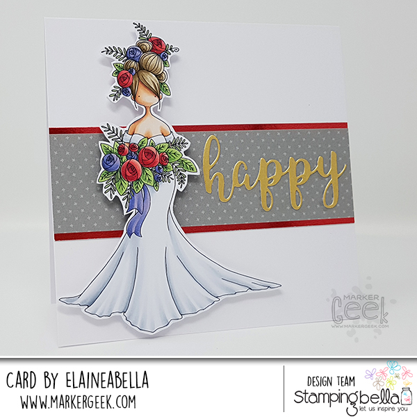 Stamping Bella: Marker Geek Monday Curvy Girl Bride Card & Copic
