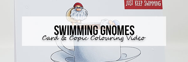 Stamping Bella Marker Geek Monday: Swimming Gnomes Card and Copic Colouring Video
