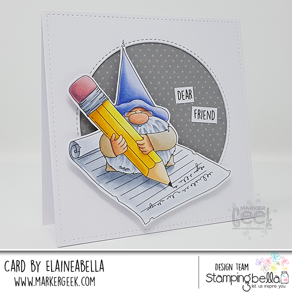 Stamping Bella Marker Geek Monday: The Gnome and the Letter Card and Copic Colouring Video