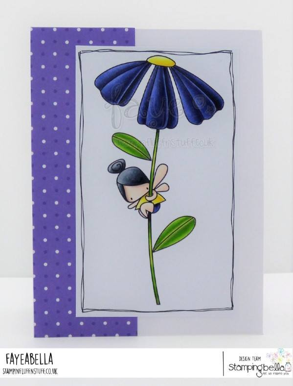 www.stampingbella.com: rubber stamp used DAISY FLORAL SET.  Card by Faye Wyn Jones