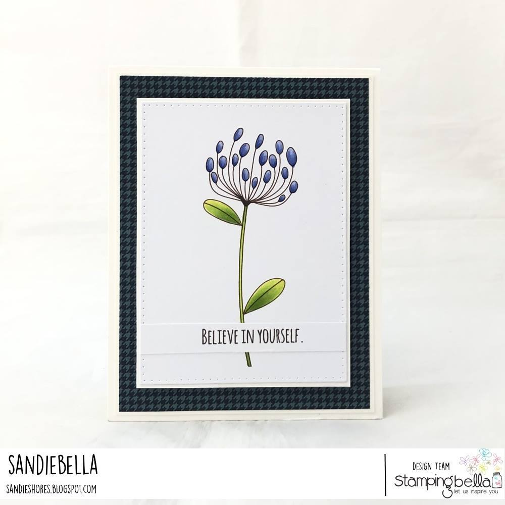 www.stampingbella.com: rubber stamp used DAISY FLORAL SET. card by  Sandie DUNNE
