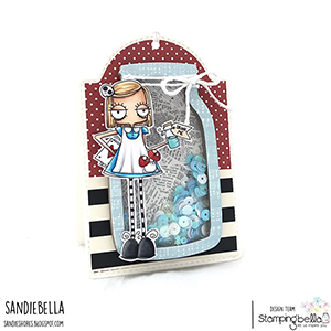 www.stampingbella.com: rubber stamp used ODDBALL ALICE. Card by SANDIE DUNNE