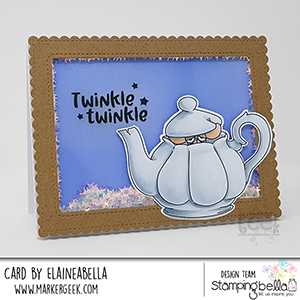 www.stampingbella.com: rubber stamp used ODDBALL DORMOUSE Card by Elaine Hughes