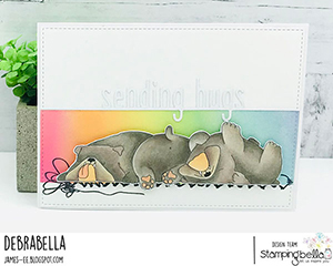 www.stampingbella.com: rubber stamp used: BULLY TRIO card made by debra James