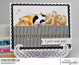 www.stampingbella.com: rubber stamp used: BULLY TRIO card made by Jenny Dix