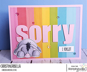 www.stampingbella.com: Rubber stamp used: DONKEY TRIO STUFFIES. Card by Christine Levison