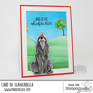 www.stampingbella.com: rubber stamp used: GOLDEN, WOLFHOUND, BULLDOG card made by Elaineabella
