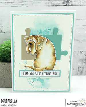 www.stampingbella.com: rubber stamp used: MASTIFF, card by Debra James