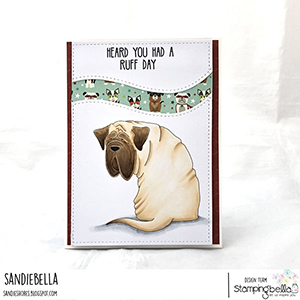 www.stampingbella.com: rubber stamp used: MASTIFF, card by Sandie Dunne
