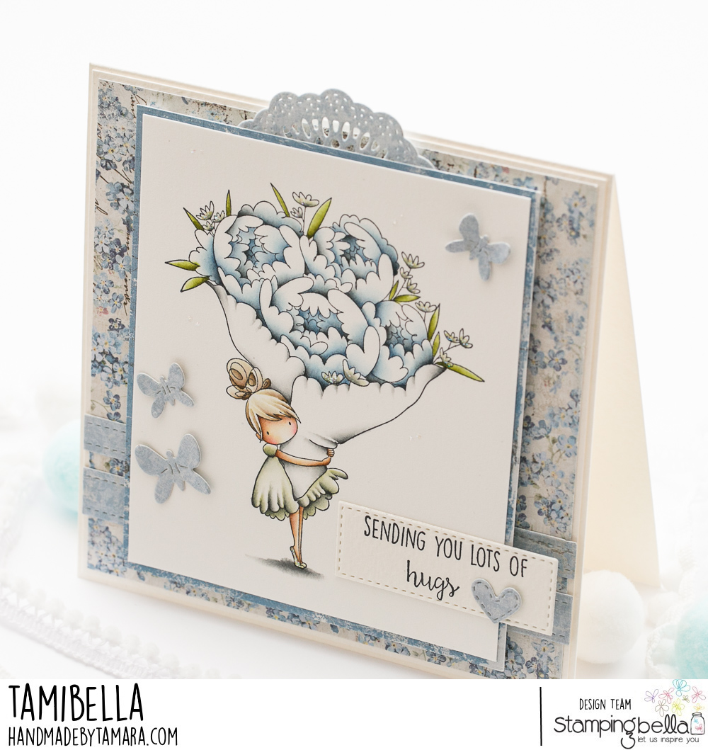 www.stampingbella.com. Rubber stamp used TEENY TINY BOUQUET.  Card made by TAMI POTOZNIK