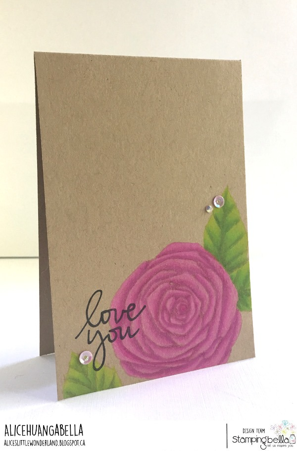www.stampingbella.com: rubber stamp used TUMBLEBLOSSOM #3 . Card by Alice Huang