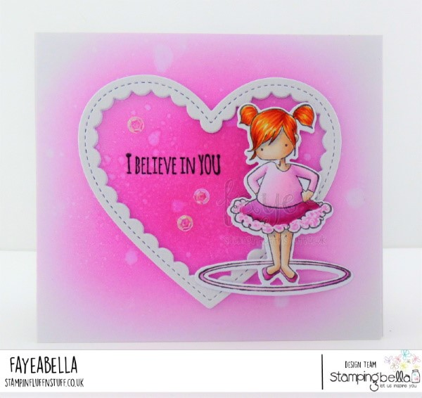 www.stampingbella.com: rubber stamp used TINY TOWNIE HULA HOOPERS. Card by FAYE WYNN JONES