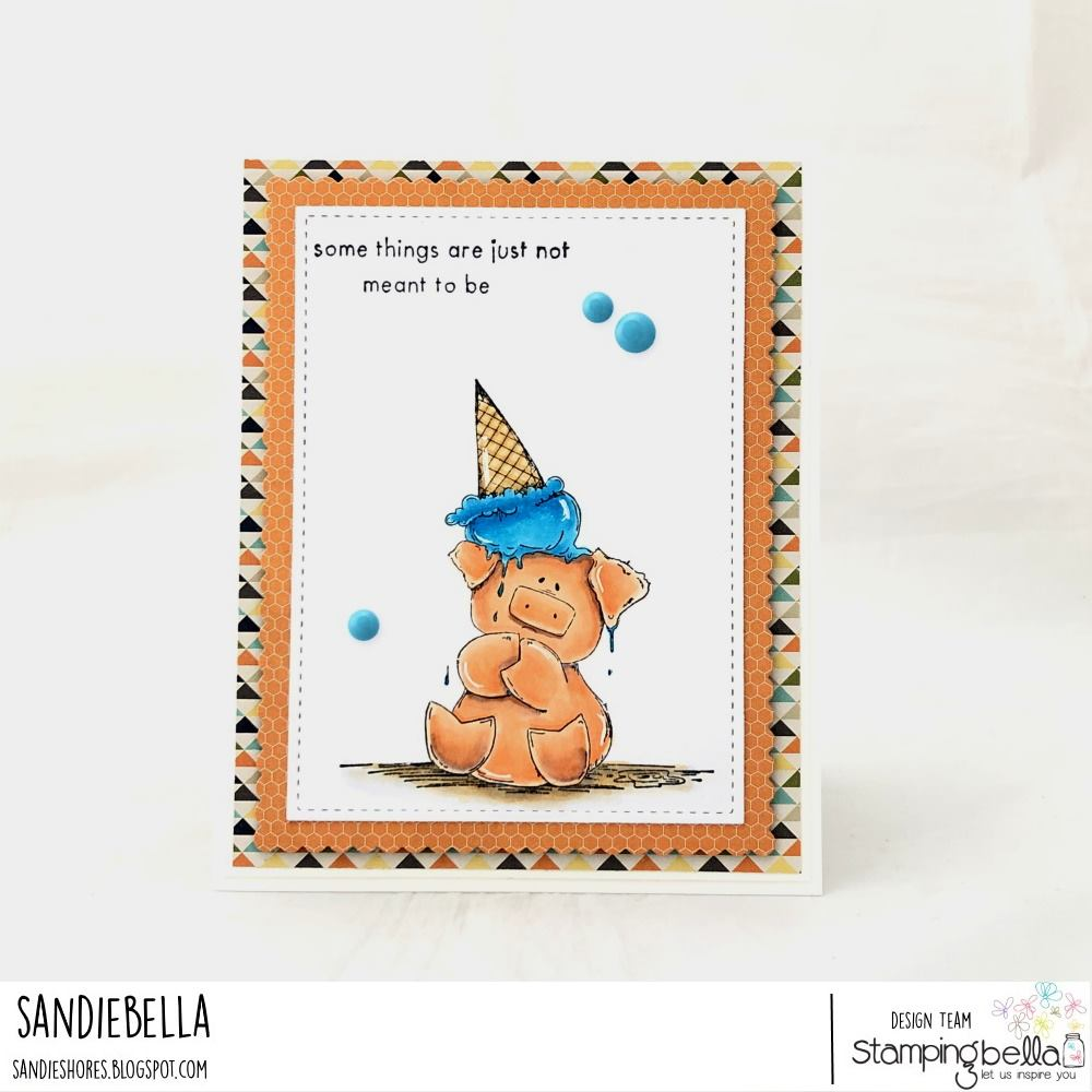 www.stampingbella.com: rubber stamp used Peaches . Card by Sandie Dunne