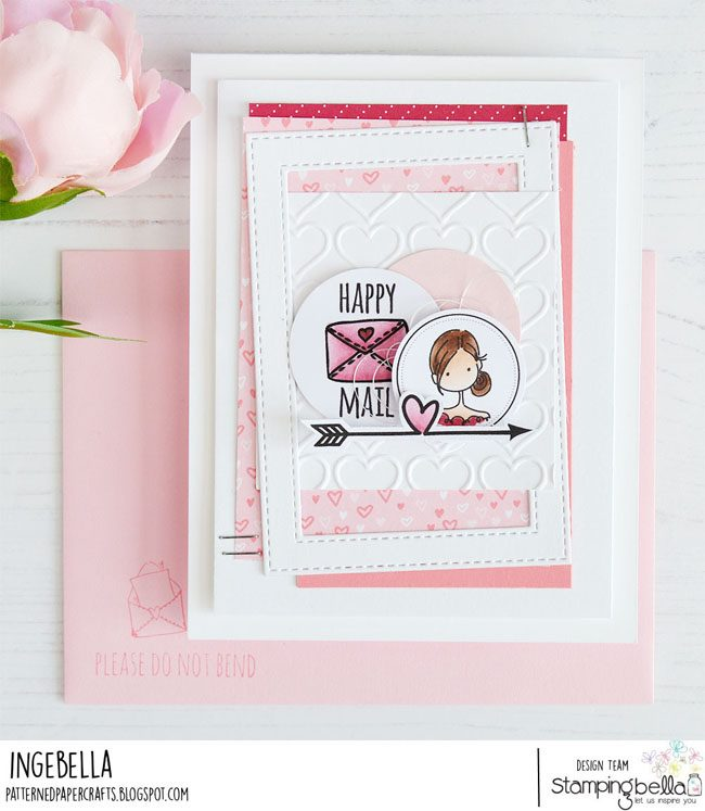 www.stampingbella.com: rubber stamp used UPTOWN SEAL OF APPROVAL.  Card by Inge Groot