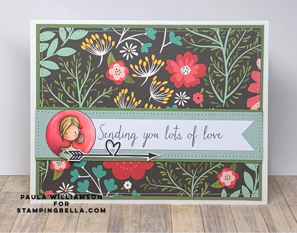 www.stampingbella.com: rubber stamp used UPTOWN SEAL OF APPROVAL.  Card by Paula Williamson