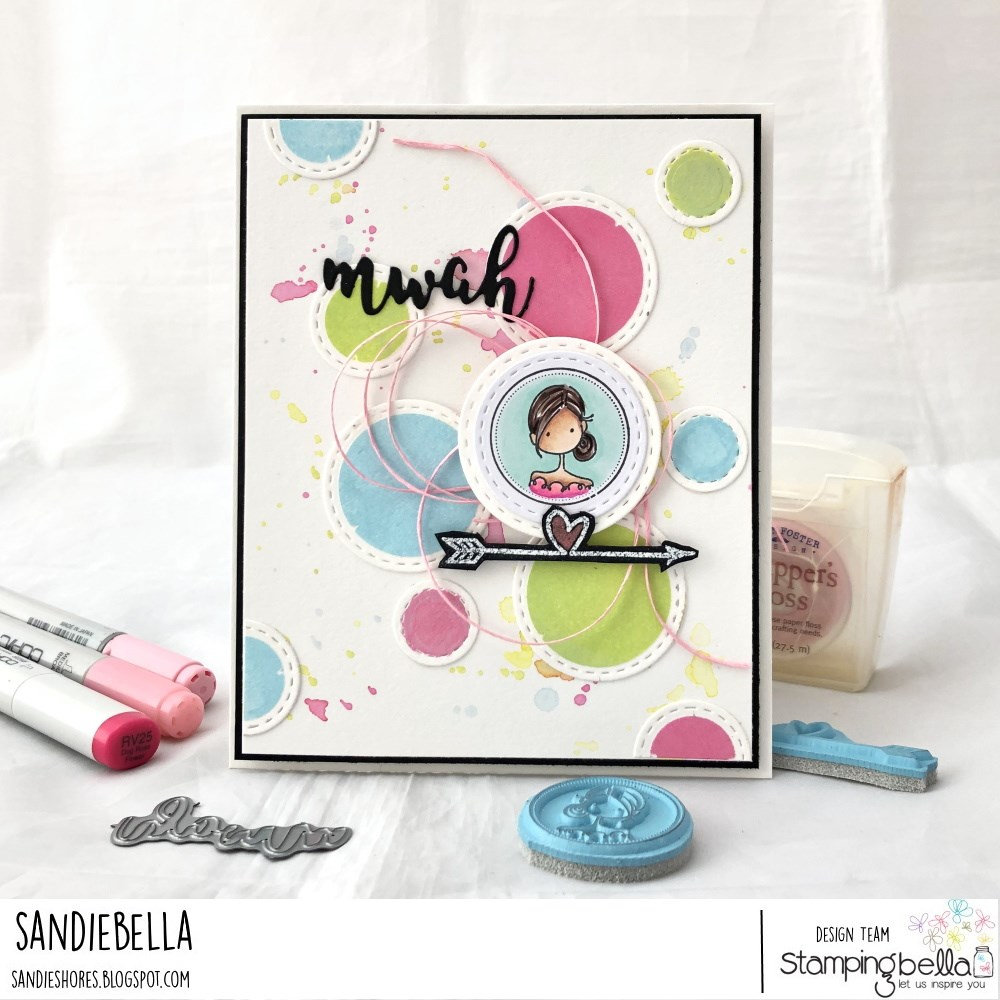 www.stampingbella.com: rubber stamp used UPTOWN SEAL OF APPROVAL.  Card by Sandie Dunne