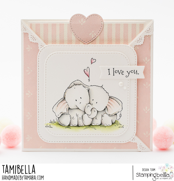 www.stampingbella.com: Rubber stamp used: ELLIE LOVES PHANT STUFFIES card be Tamara Potocznik