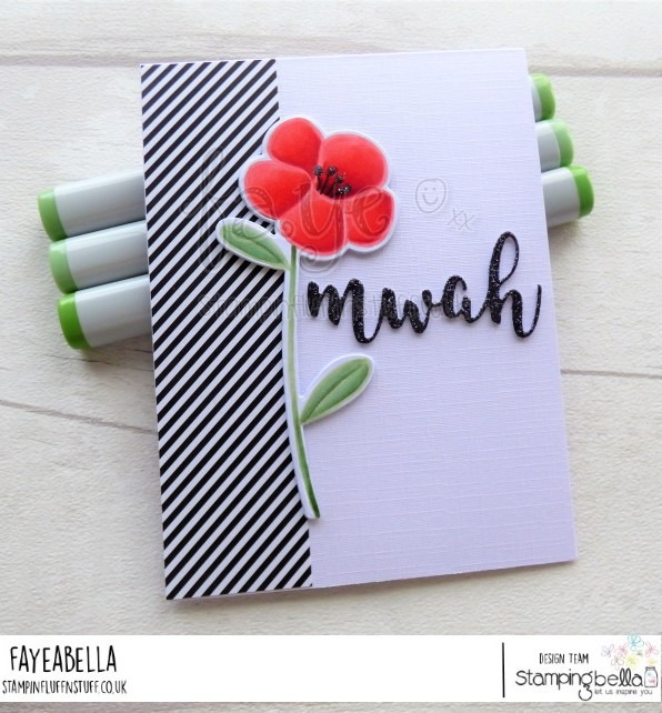 www.stampingbella.com: rubber stamp used:TULIP FLORAL SET CARD BY Faye Wynn Jones