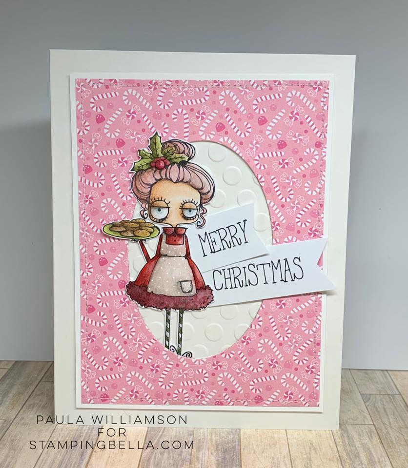 www.stampingbella.com: rubber stamp used ODDBALL SANTA and the MISSUS card by Paula Williamson