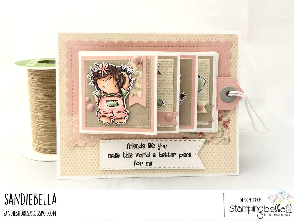 www.stampingbella.com: rubber stamp used:  SQUIDGY PALS card by SANDIE DUNNE