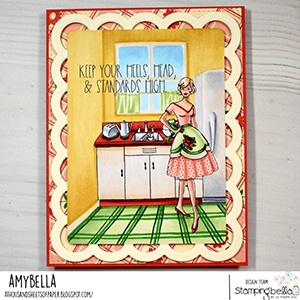 www.stampingbella.com: rubber stamp used: EDGAR AND MOLLY VINTAGE VACUUM SET card by AMY YOUNG