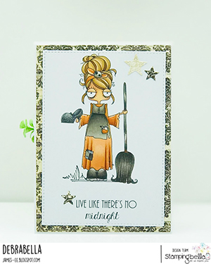 www.stampingbella.com: rubber stamp used: ODDBALL Cinderella . card by Debra James