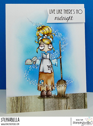 www.stampingbella.com: rubber stamp used: ODDBALL Cinderella . card by Stephanie Hill