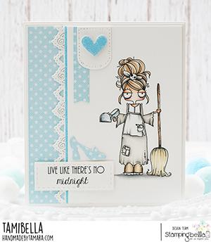 www.stampingbella.com: rubber stamp used: ODDBALL Cinderella . card by Tamara Potocnik