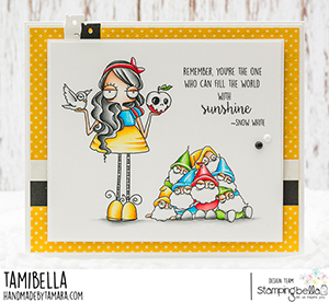 www.stampingbella.com: rubber stamp used: ODDBALL Snow White . card by Tamara Potocnik
