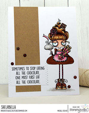 www.stampingbella.com: rubber stamp used: ODDBALL with a SWEET TOOTH. card by Michele Boyer