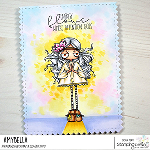 www.stampingbella.com: rubber stamp used: ODDBALL HIPPIE. Card by Amy Young
