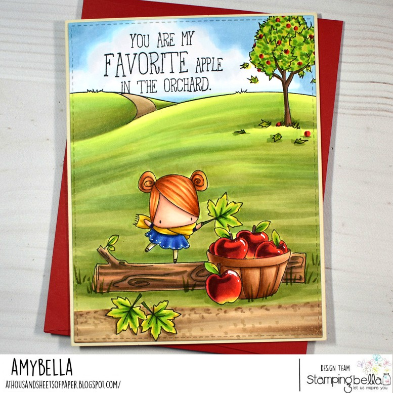 www.stampingbella.com: rubber stamps used : THE LITTLES COLLECTION.  card by Amy Young