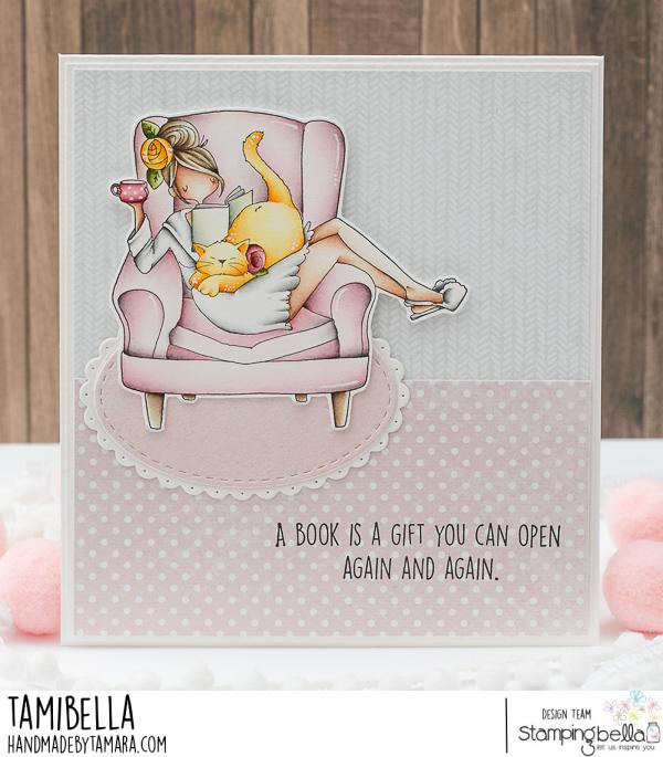 www.stampingbella.com: rubber stamp used : CURVY GIRL MULTITASKER card by TAMARA POTOCNIK