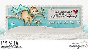 www.stampingbella.com. Rubber stamp used: Sloth on a Branch card by Tamara Potocnik