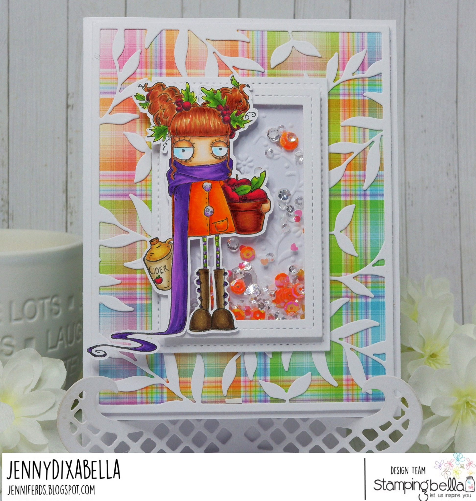 www.stampingbella.com: rubber stamp used APPLE CIDER ODDBALL, card by JENNY DIX